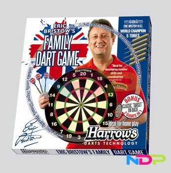 HARROWS T2 Family Dart Game - sada terč a 6 ks šipek